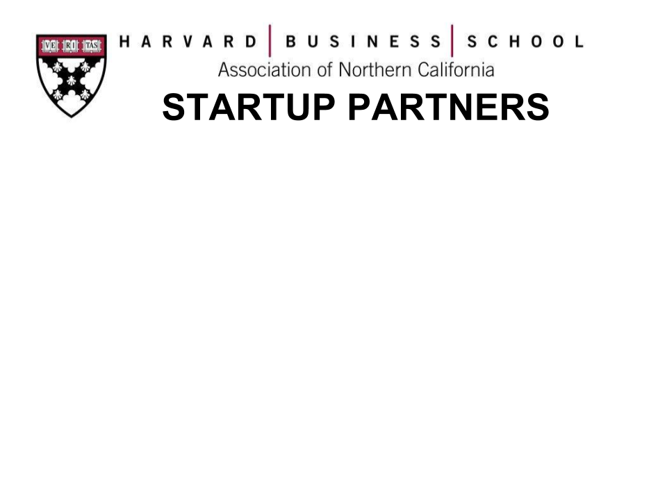 HBSANC StartUp Partners (SUP)